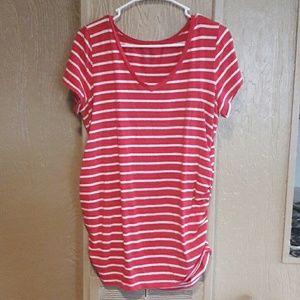 Womens stripped Maternity shirt